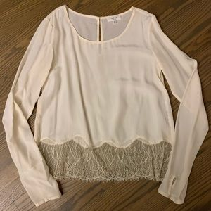 Wilfred Tops - Aritzia Wilfred silk and lace desaix blouse